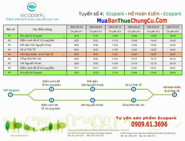 Tuyến số 4 xe bus Ecopark