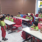 Visit of a Hair dresser at Jr KG Section (2018-19) at Witty World, Bangur Nagar