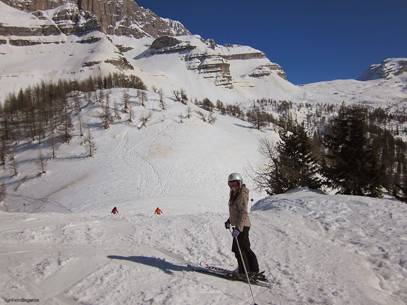 Skiing in Dolomites