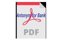Antonym for Bank - PDF ফাইল