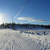 1-km løypa rundt skihytta.