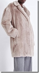 Whistles faux fur cocoon coat