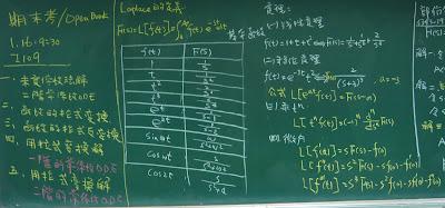 微分方程期末考說明以及使用的Laplace公式