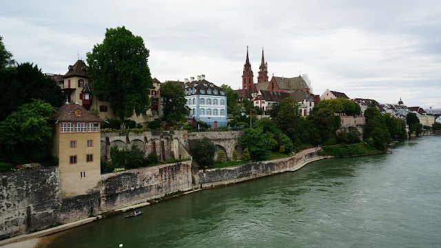 skyline of Basel - our final stop in Switzerland in Gruyeres, Fribourg, Switzerland