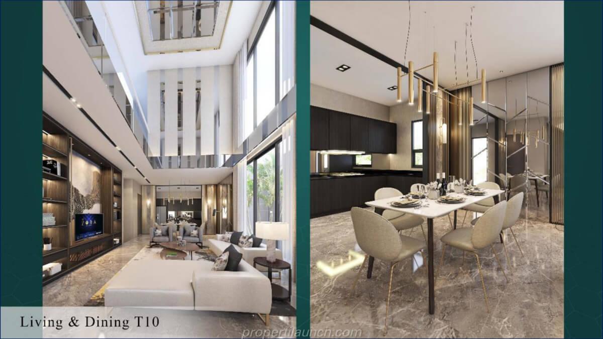 Living Room Rumah Kiyomi Zora BSD Tipe 10