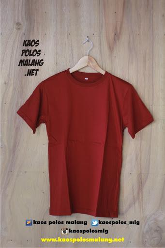 kaos polos cowok merah maroon malang