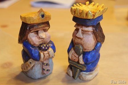 Finished king and queen