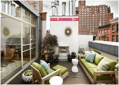 Dekorasi balkon rumah minimalis modern