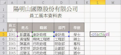 Excel將不同儲存格資料合併在同一儲存格內 http://excel.22ace.com/2014/07/excel-data-all-in-one.html