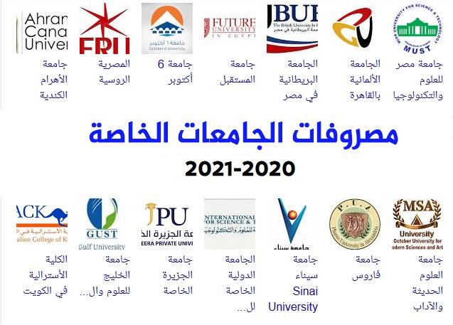 مصروفات الجامعات الخاصة 2021  مصروفات جامعة المستقبل 2021  مصروفات جامعة 6 أكتوبر 2021   مصروفات جامعة مصر للعلوم والتكنولوجيا 2021