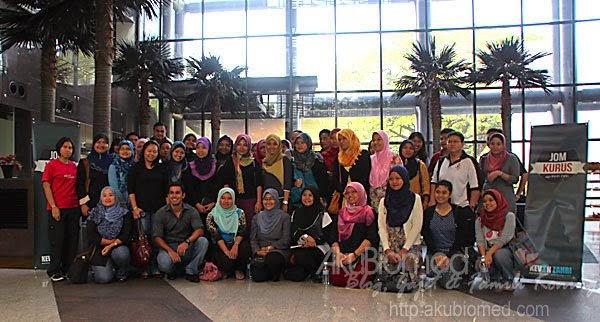 peserta seminar jom kurus kevin zahri