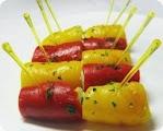 Рулетики из болгарского перца