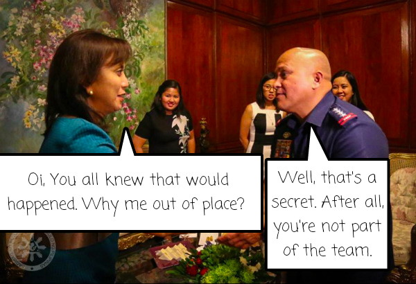 Image of PNP Chief Dela Rosa Slams VP Robredo Over the Issue of President Marcos Private Burial