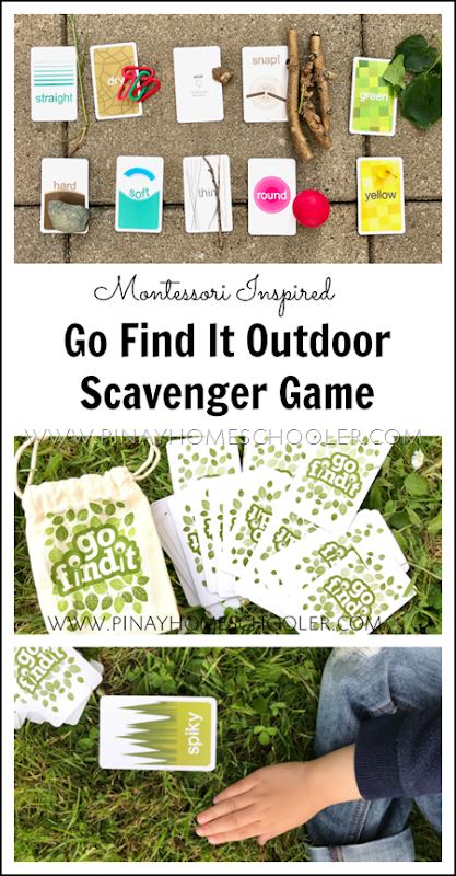 Go Find It: A Montessori Friendly Summer Game