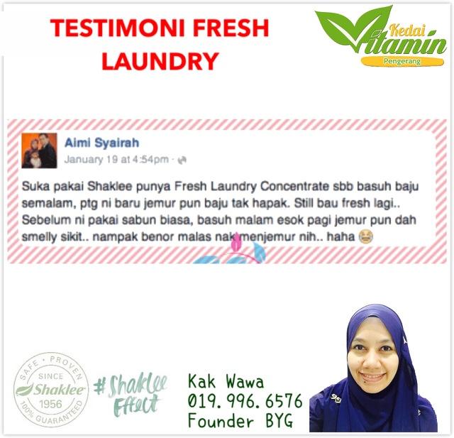 Testimoni fresh laundry shaklee, fresh laundry shaklee, testimoni sabun shaklee, pencuci pakaian shaklee