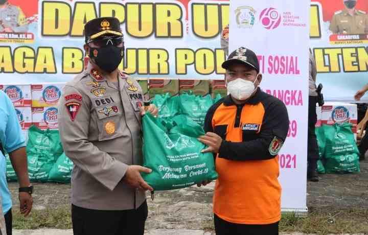 Peduli Korban Banjir Di Katingan, Kapolda Kalteng Tinjau Banjir Dan Siapkan Dapur Lapangan Untuk Masyarakat..