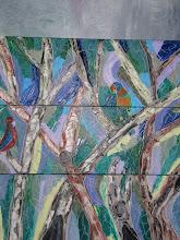 Photo: Falls Creek Parrots Triptych Oil 90cmx90cm $250