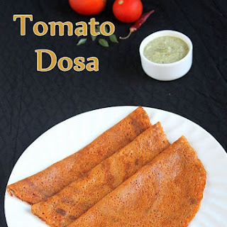 Tomato Dosa Recipe with Dosa Batter | Dosa Varieties Recipe