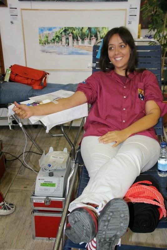 Pilar i donació a la Marató de Donació de sang  24-09-14 - IMG_4512.JPG
