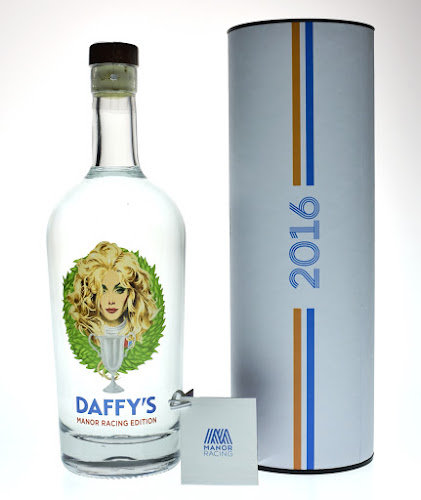 Daffy's Gin, Limited Edition Daffy's Gin, Robert McGinnis, Manor Racing, Formula One