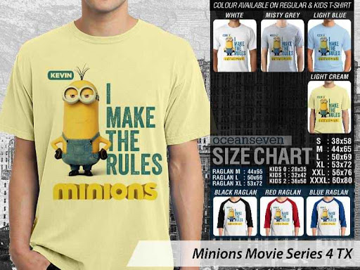 Kaos Kartun Minions Movie Series 4 distro ocean seven