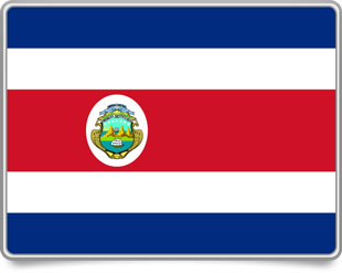 Costa Rican framed flag icons with box shadow