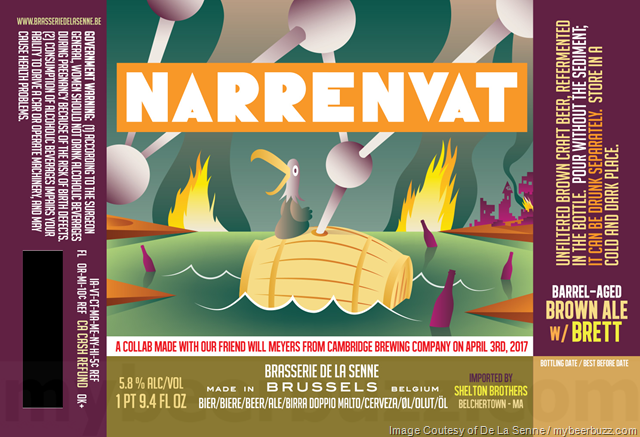 Brasserie De La Senne & Cambridge Brewing Collaborate On Narrenvat