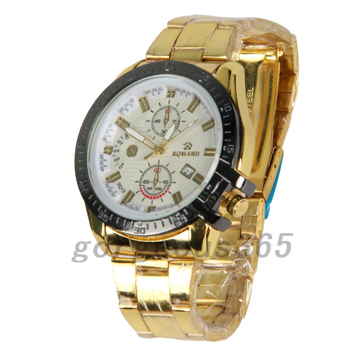 1pcs-Fashion-Men-039-s-Stainless-Steel-Belt-Sport-Business-Quartz-Watch-Wristwatche