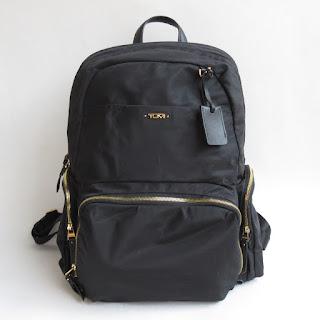 Tumi Black Nylon Backpack