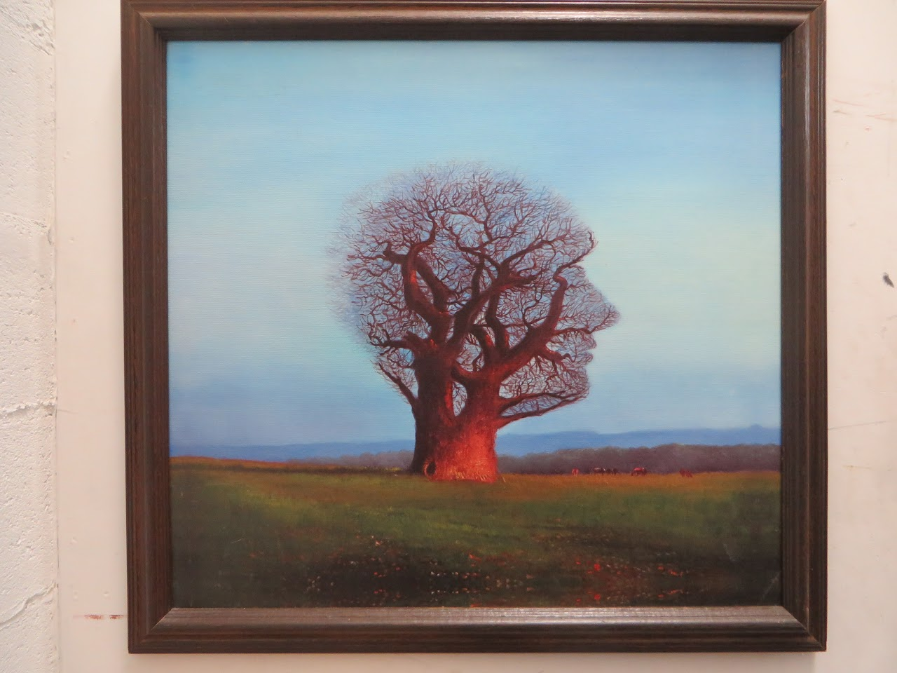 Lone Tree Painting w/ Hidden Image