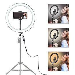 Lampa circulara cu suport selfie, 60W