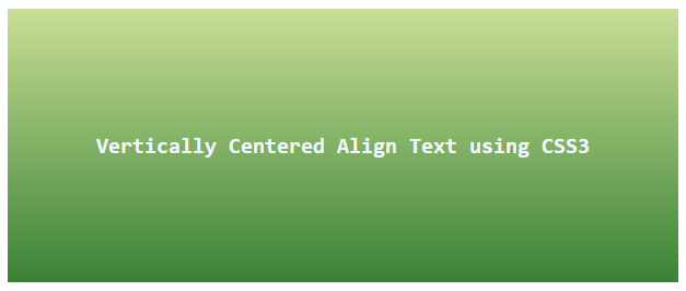 Vertically Center Align Text using CSS3 Flex