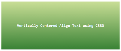 Vertically Center Align Text in Div CSS3