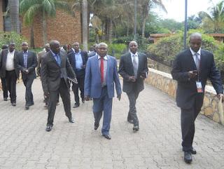 Le M23 se dirgeant ce dimanche 9 décembre vers la salle de conférence de Munyonyo à Kampala/ Photo Innocent Olenga-Radio Okapi.