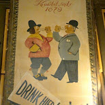 drink hier wijnand fockink poster in Amsterdam, Noord Holland, Netherlands