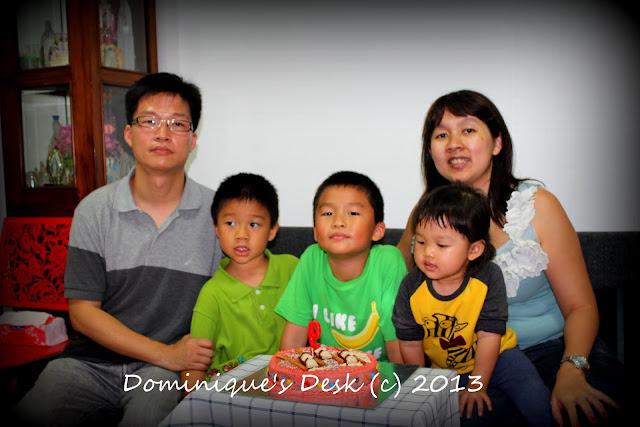 Celebrating Monkey boy's 9th birthday