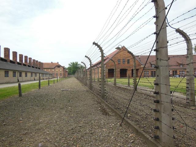Alambradas en Auschwitz
