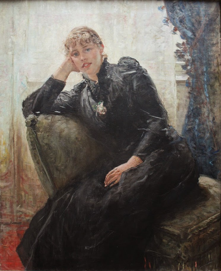 Fritz von Uhde - Portrait of a Lady (Portrait of Therese Karl)