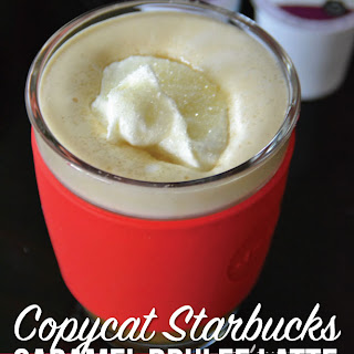 Copycat Starbucks Caramel Brûlée Latte.