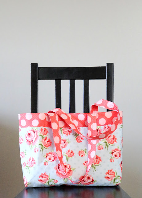 French Market Tote bag tutorial by A Bright Corner
