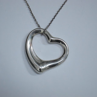 Tiffany & Co. X Elsa Peretti Sterling Silver Large Open Heart Necklace