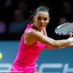 STUTTGART, GERMANY - APRIL 22 : Agnieszka Radwanska in action at the 2016 Porsche Tennis Grand Prix