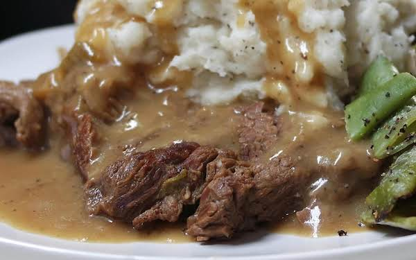 Smothered Chuck Steak Electric Skillet Style Recipe