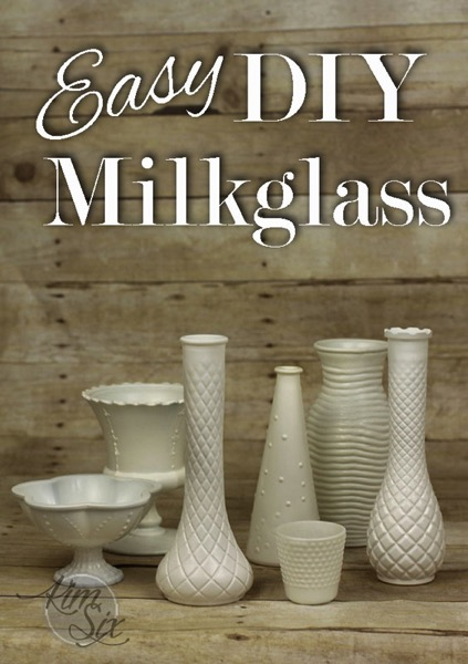 Easy DIY Painted MilkGlass