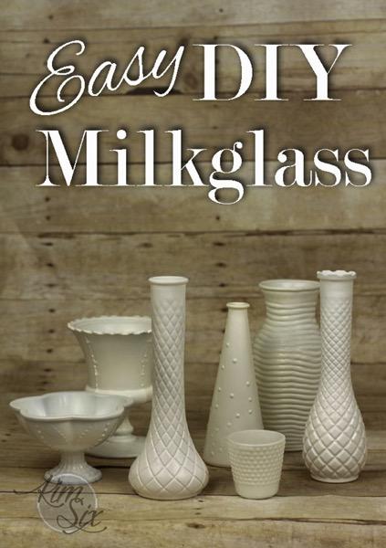 Easy DIY Painted MilkGlass