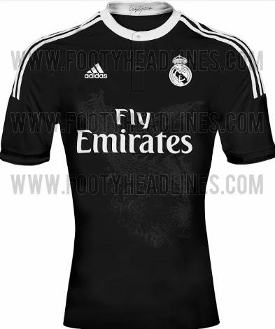 New Real Madrid 2014 15 Kits Released (Black Third Shirt) 3916c59fe