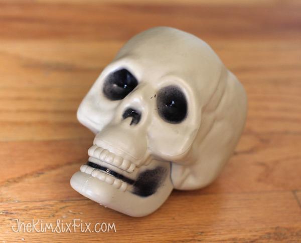 Dollar store plastic skull