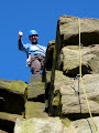 Justin Topped out on Niche Arete (VS 4c) Castle Naze