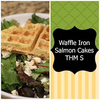 Waffle Iron Mania!!!! Salmon Cakes Trim Healthy Mama Style (S)