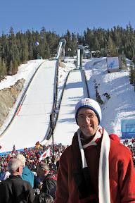 Me at the ski jumping venue